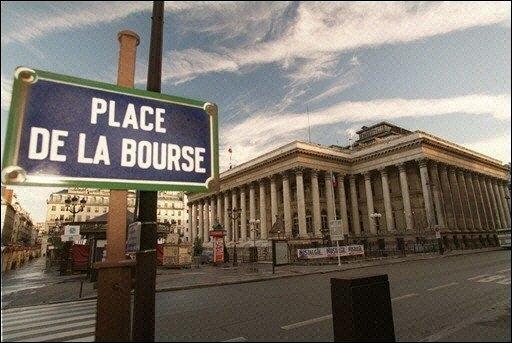 façade de la bourse de paris