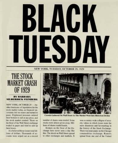 le black tuesday du krach de 1929