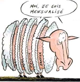 mouton tondu mensuellement