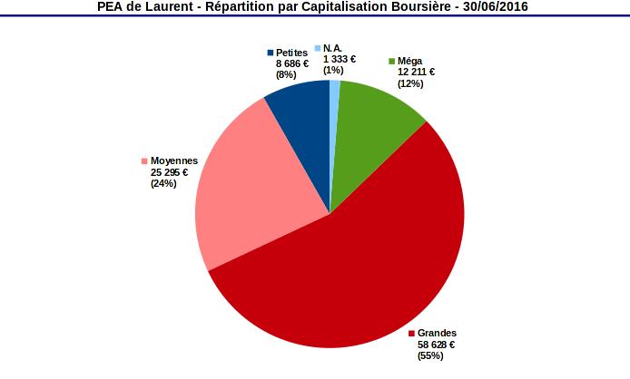 PEA répartition par capitalisation boursière juin 2016