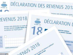 déclaration revenus 2018 - impôt 2019